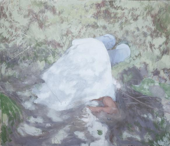 Reflexión sobre la muerte 10, 2012, Caseina sobre tabla, 120 x 140 cm,